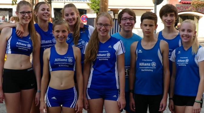Bad Kötztinger Läufer dominieren Viechtacher Stadtlauf