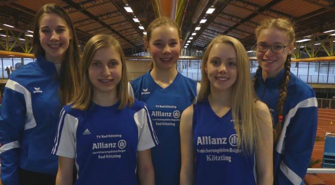 Dreimal Silber, einmal Bronze bei Bayerischen Hallenmeisterschaften