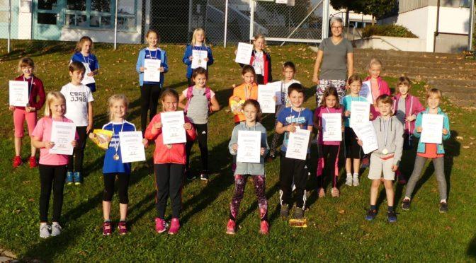 Gruppenolympiade der Leichtathletik-Kids